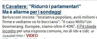 La Repubblica screenshot sondaggi
