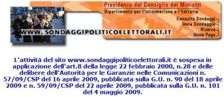screenshot sito sondaggi politico-elettorali