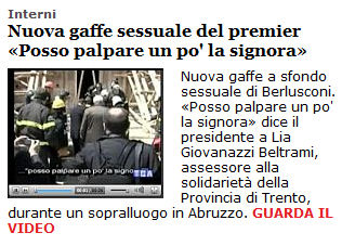 unita gaffe Berlusconi