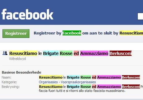 resuscitiamo le brigate rosse ed ammazziamo Berlusconi facebook