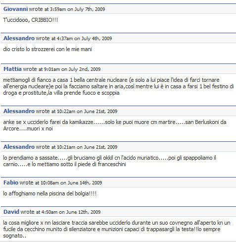 uccidiamo berlusconi facebook