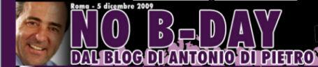 No B Day No Democracy Day Di Pietro