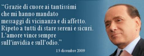 Messaggio di Berlusconi