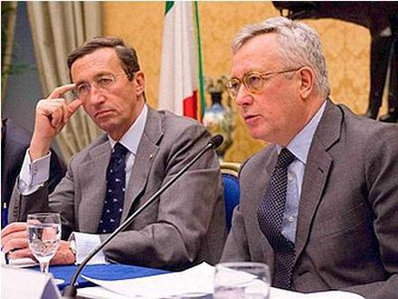 Gianfranco Fini e Giulio Tremonti foto