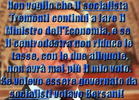 Giulio Tremonti non mi rappresenta e non è il mio Ministro dell'Economia