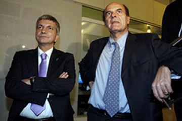 Nichi Vendola e Pier Luigi Bersani foto