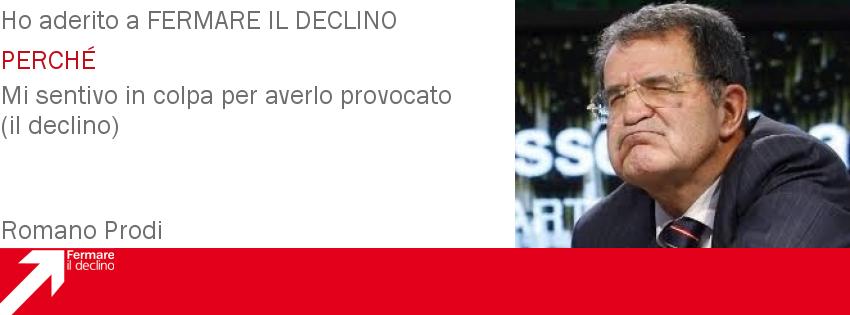 Romano Prodi Fermare il Declino - Clicca per aderire e avere informazioni